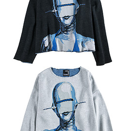 """MEDICOM TOY - KNIT GANG COUNCIL CREW NECK SWEATER """"SEXY ROBOT"""""""