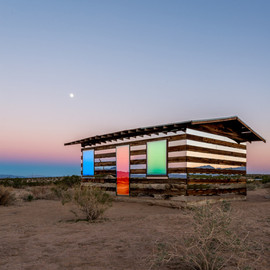 Phillip K Smith III - Lucid Stead installation gives the illusion of invisibility to a desert cabin