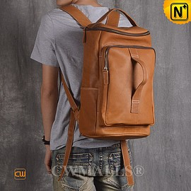 CWMALLS - Men Leather Bags | CWMALLS® Berlin Leather Travel Backpack CW908007 [Patented Design]