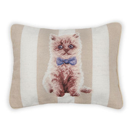 Zara Home - Petit Point Kitten Cushion