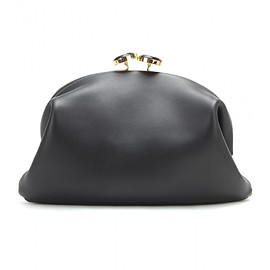 MARNI - Embellished leather clutch