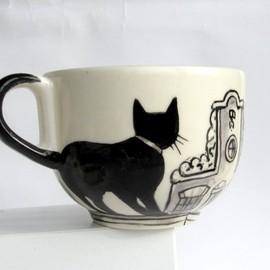 houseofharriet  - Amsterdam cats -  Big Handpainted Mug- made to order