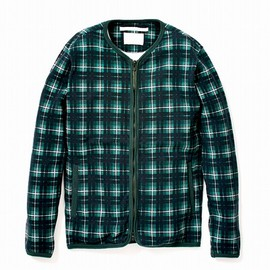 White Mountaineering - CHECK SWEAT CARDIGAN