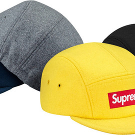 Supreme - Fitted Wool Knit Camp Cap