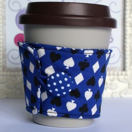 Luulla - Eco friendly Blue card suit coffee cozy