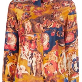 Carven - Middle Ages Print Shirt in Orange