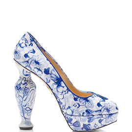 Charlotte Olympia - Koi Printed Patent-Leather Platform Pumps