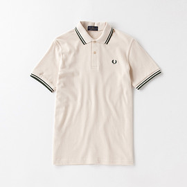 Fred Perry - Fred Perry Shirt M-12(Made In England) Beige/Tartan Green