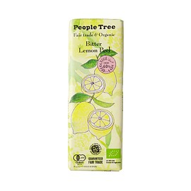 People Tree - Bitter Lemon Peel Chocolate - Fair trade & Organic -