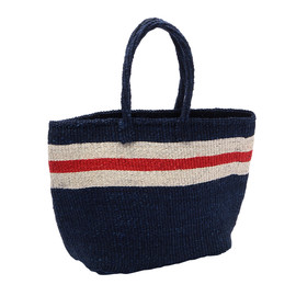 THE CONRAN SHOP - MACHACOS TOTE BAG NAVY WITH NATURAXRED LIN