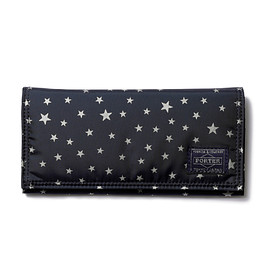 "HEAD PORTER - ""STELLAR (NEW)"" WALLET (L) NAVY"