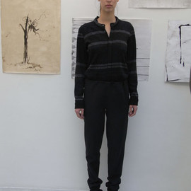 STEPHAN SCHNEIDER - EASY PANTS with KNIT RIB 2012 AW