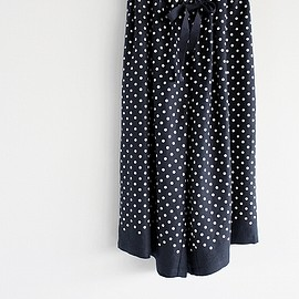 DAILY  /  wim neels - WIM NEELS DAILY CULOTTE TROUSER POLKA    ポルカドット ロングキュロット