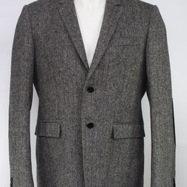 BURBERRY PRORSUM - Tweed Jacket With Black Elbow Patches