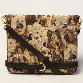 Jeffrey Campbell - The Danza Bag -Puppy Tapestry