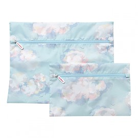 Cath Kidston - Set Of 2 Clouds Travel Laundry Bags