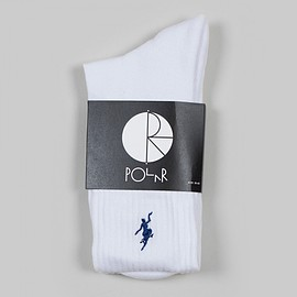 Polar Skate Co. - No Comply Sports Socks, White / Navy