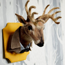 Needle Felted Bison Taxidermy