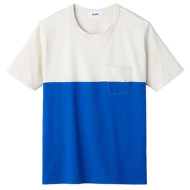 Patchwork - Color Block S/S T-shirt (Navy-Blue)