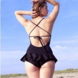 "Fifi chachnil - ""Shirley"" black one piece swimsuit"