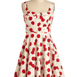 ModCloth - Pull Up a Cherry Dress