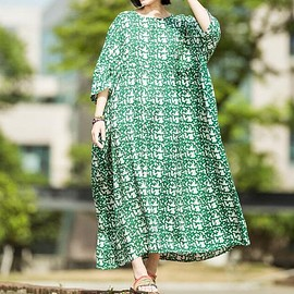 oversized Dresses - Women pullover Long oversized Dresses large size maxi dress Plus size In the floor dress