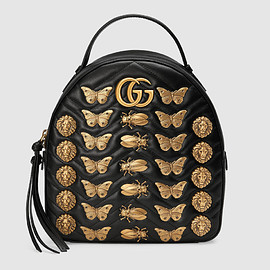 GUCCI - GG Marmont animal studs leather backpack