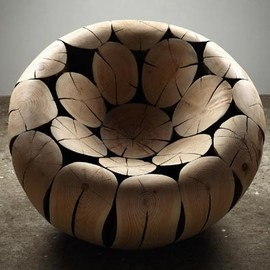 PINE AND CHESTNUT CHAIR BY LEE JAE-HYO