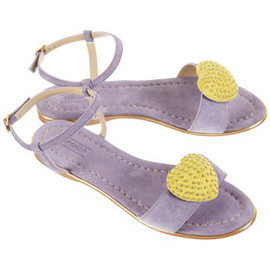 TOPSHOP/TOPMAN - FABBY Heart Trim Sandals