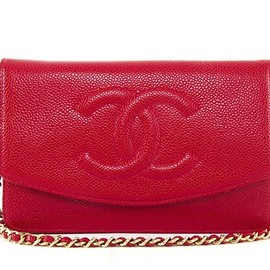 CHANEL - red Chanel chain bag
