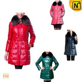 CWMALLS - Women Leather Down Coat CW148260 - cwmalls.com