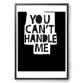 MY DEER ART SHOP - MY DEER ART SHOP ポスター/アートプリント 50×70cm You can't handle me