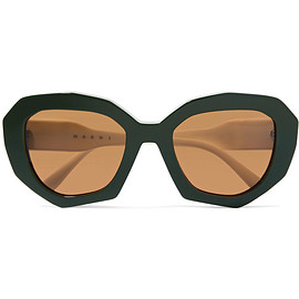 MARNI - Cat-eye two-tone acetate sunglasses