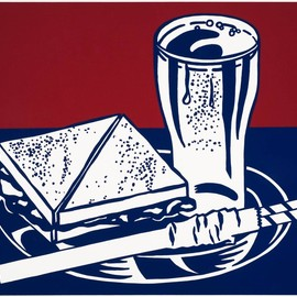 Roy Lichtenstein - Sandwich and Soda 1964