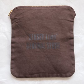 STUSSY Livin' - Canvas Bankers Pouch #brown