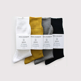 ARTS&SCIENCE - Plain rib socks