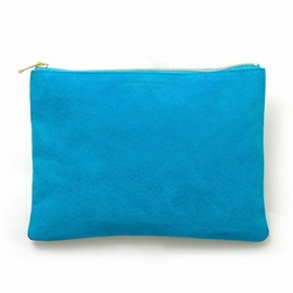 arenot - SUEDE FLAT POUCH ターコイズブルー