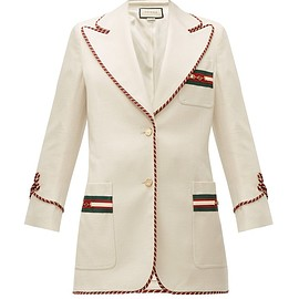 GUCCI - Web-stripe single-breasted twill jacket