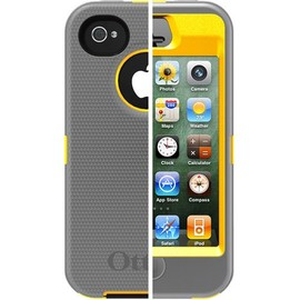 OtterBox -  iPhone 4S Defender  Sun Yellow/ Gunmetal Grey