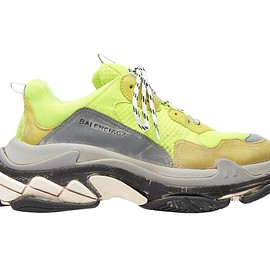 BALENCIAGA - SS2018 Triple S Trainers Yellow Fluo