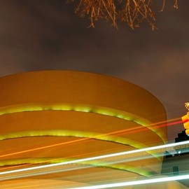 The Guggenheim at night