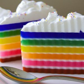 Luulla - Glycerin Soap - Frosted Rainbow Cake Soap