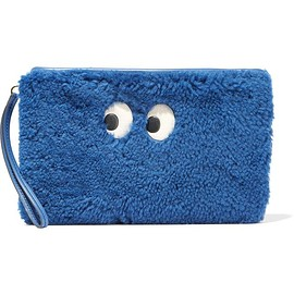 Anya Hindmarch - Ghost leather-trimmed shearling pouch