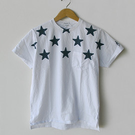 Engineered Garments - Printed Pocket T-Shirt (Stars)