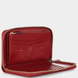 ANYA HINDMARCH - Bespoke Large Zipped Purse in Red