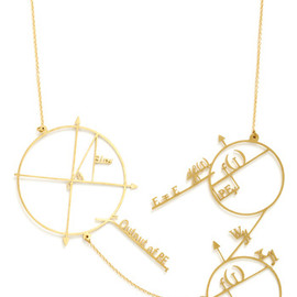 Modcloth - Cute and Astute Necklace by Monserat De Lucca - Gold