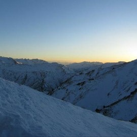 Coronet Peak - looking north towards Mt Aspiring from the top of Greengates lift.