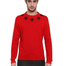Givenchy - EMBROIDERED STARS WOOL KNIT SWEATER