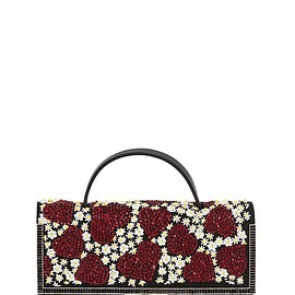 VALENTINO - Pre-Fall 2015 HEART & FLOWER EMBELLISHED SUEDE CLUTCH