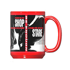 Barbara Kruger, LACMA - Untitled (Shafted) Mug (Shop/Stare Detail)